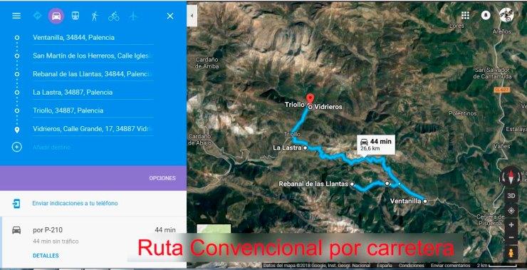 ruta convencional